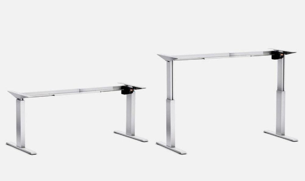 Schreibtisch-Gestell Pro 140 M elektrisch höhenverstellbar silber